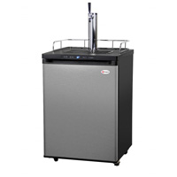 Full Size Digital Kegerator - Black Cabinet with Stainless Steel Door