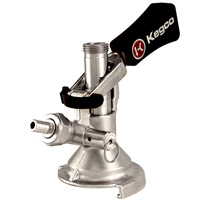 Keg Coupler German Slider A System - Ergonomic Lever Handle - Stainless Steel Probe
