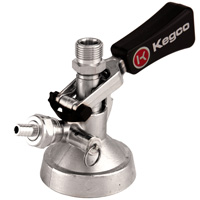 Keg Taps Coupler G System - Ergonomic Lever Handle - Stainless Steel Probe