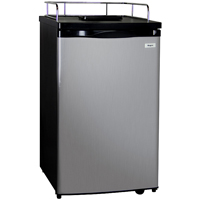 Kegerator Cabinet Only - Black Cabinet and Stainless Steel Door