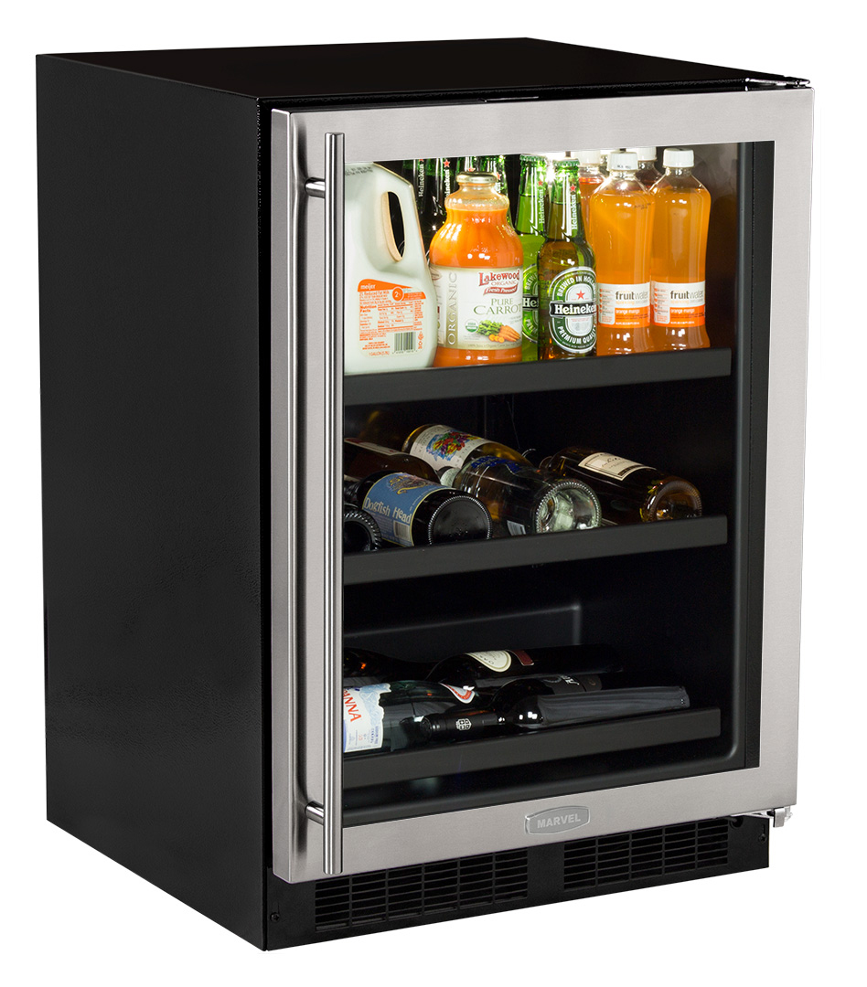 24 beverage center with convertible shelves overlay frame glass ml24bcf planetlyrics Image collections