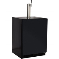 Built-in Kegerator Cabinet with X-CLUSIVE Premium Direct Draw Kit - Black with Overlay Door