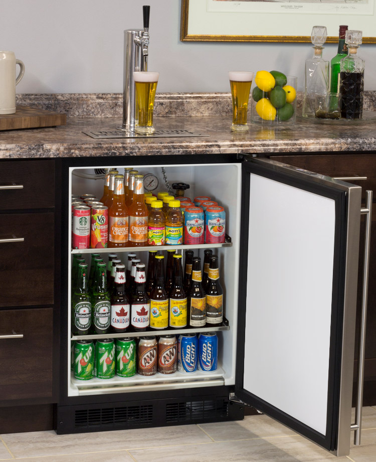 marvel ml24bns1rs x1 kegerator with x clusive premium