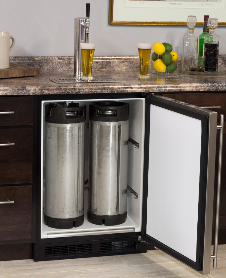 Marvel Ml24bns1rs X1 Kegerator With X Clusive Premium Direct Draw Kit Built In Beer Keg Cooler