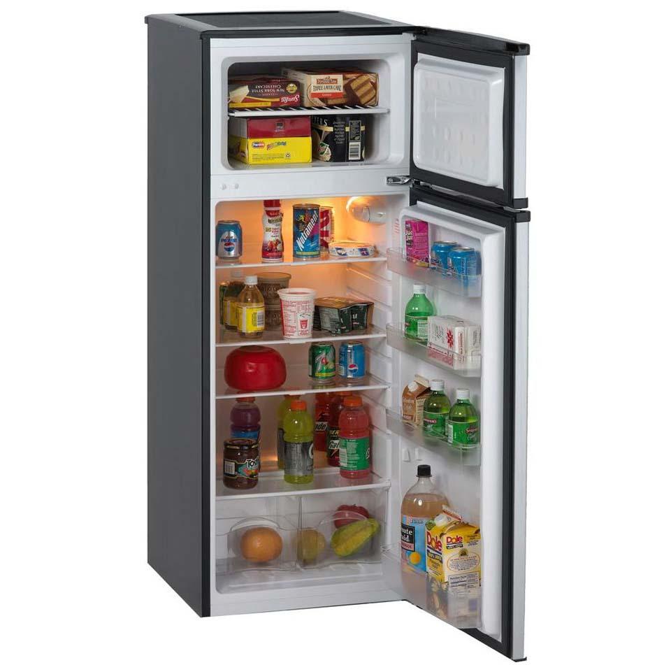 Avanti Cu Ft Two Door Apartment Refrigerator Black Cabinet