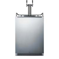 Built-In Undercounter Dual Faucet Kegerator - Stainless Steel Door