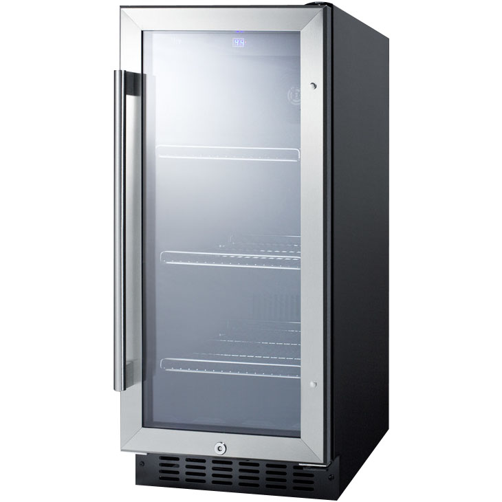 Summit SCR1536BG Beverage Refrigerator - Black/Stainless ...