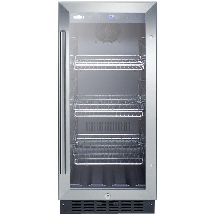 Summit SCR1536BG Beverage Refrigerator - Black/Stainless ...