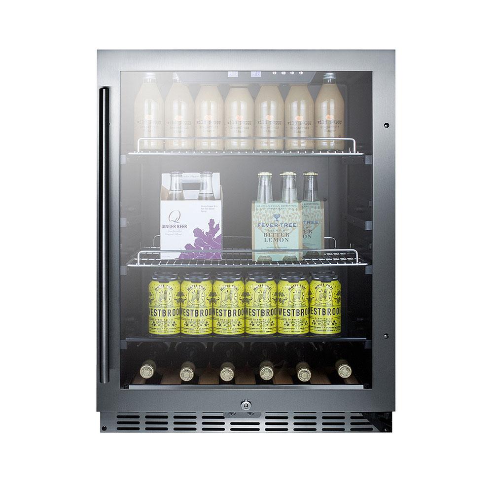 Undercounter Drink Refrigerator Summit Scr2466 Beverage Refrigerator Black Stainless Steel