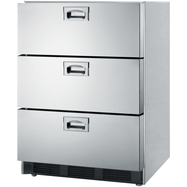 Summit Sp6ds7 Commercial 3 Drawer Refrigerator Stainless
