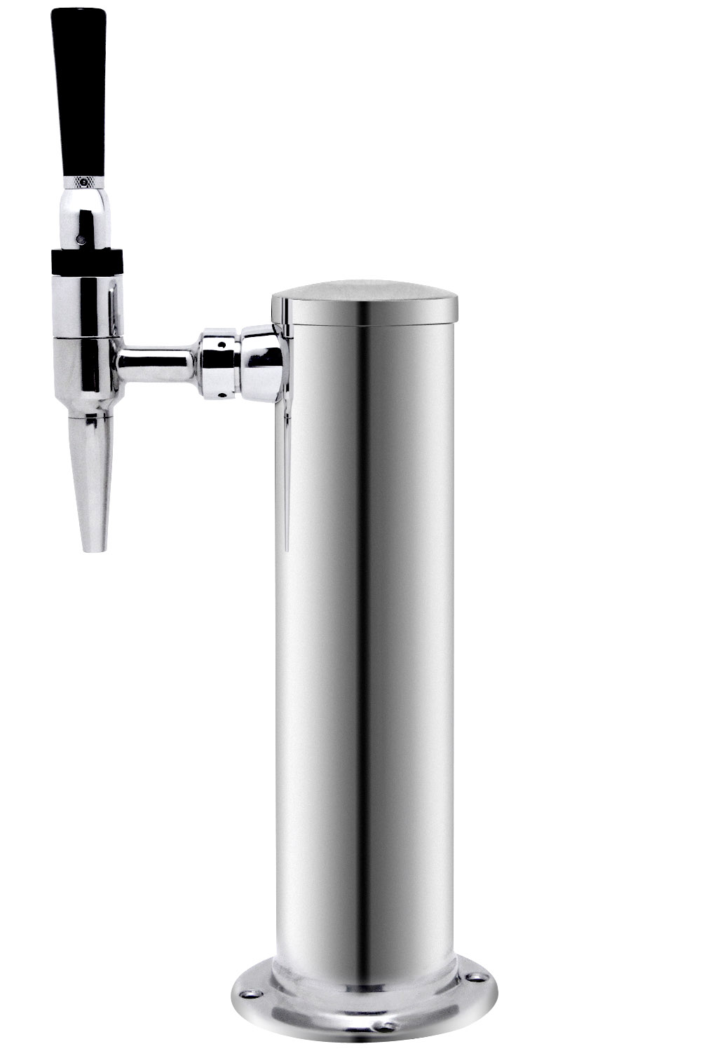 Kegco 1FT-GSF Single Faucet Polished Stainless Steel Draft BeerTower ...
