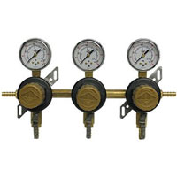 Three Product Secondary Co2 Regulator with Check Valve