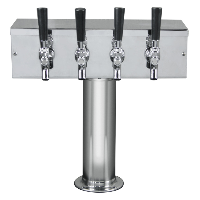Kegco 4 Tap Kegerator Tower T Faucets QTY 3 Towers and 12 faucets