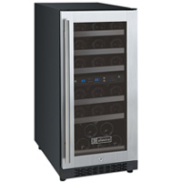 FlexCount Series 30 Bottle Dual-Zone Wine Refrigerator - Right Hinge