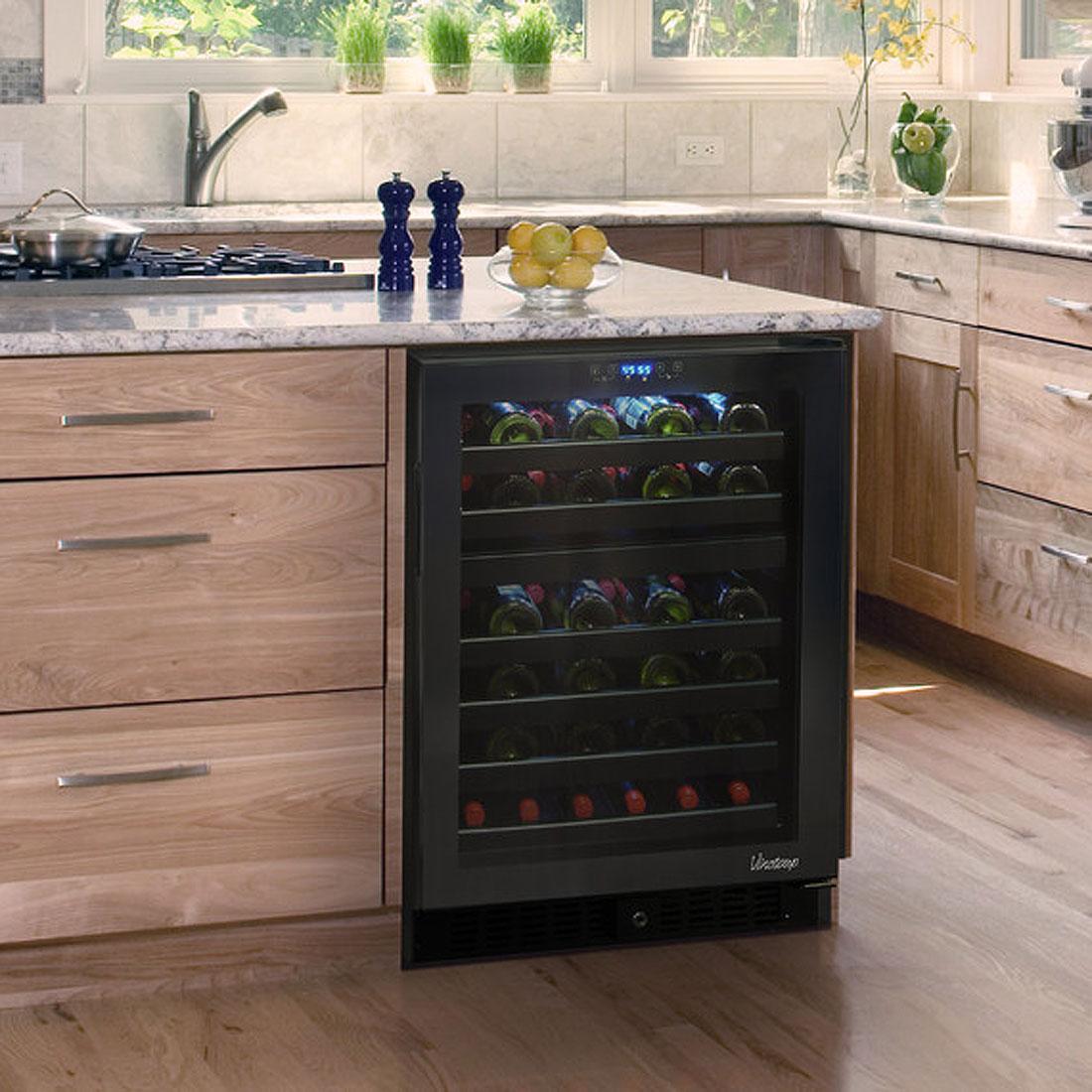 wine cooler kitchen cabinet