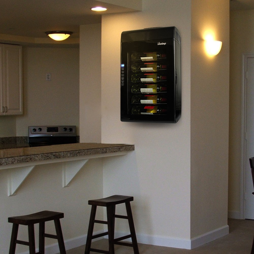 Vinotemp VT-6TED-WB 6 Bottle Thermoelectric Wine Cooler ...