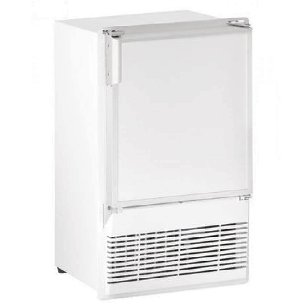 white refrigerator with ice maker. u-line wh95fc-03a ice maker white refrigerator with