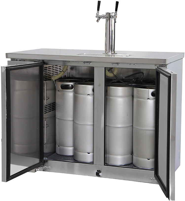 interior with 5 gallon kegs