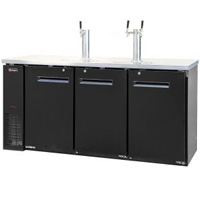 Three Keg Commercial Grade Kegerator - Black