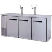 Three Keg Commercial Grade Kegerator - Stainless Steel