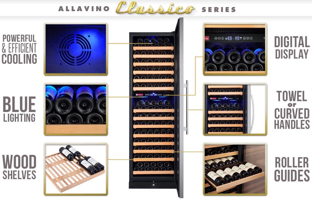 Allavino YHWR172-2SWRN Wine Refrigerator Features