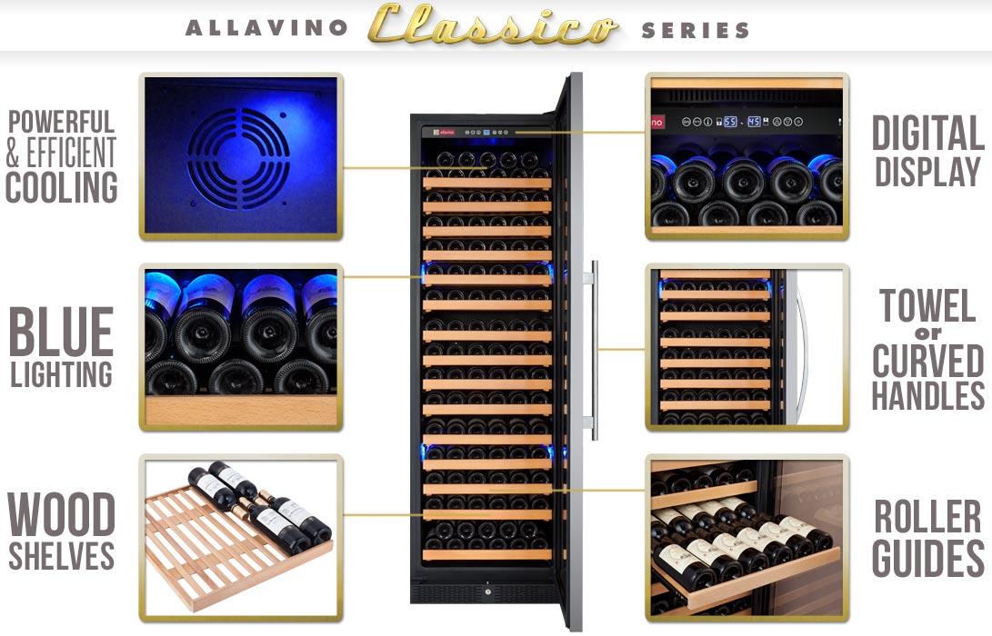 Allavino YHWR174-1SWRN Wine Refrigerator Features