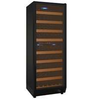 Vite Series 99 Bottle Dual-Zone Wine Refrigerator - Black Door with Hinge on Right