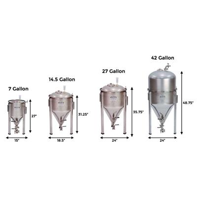 Blichmann 7 Gallon Conical Fermenator Npt Standard