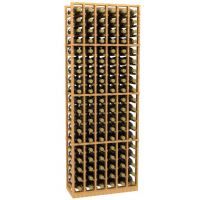 6 Column Wood Wine Rack
