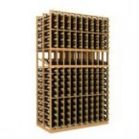Double Deep 10 Column Wine Rack Display