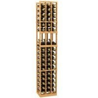 3 Column Display Wood Wine Rack