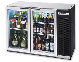 Photo of Beverage-Air BB48G Back Bar Refrigerator with Glass Doors