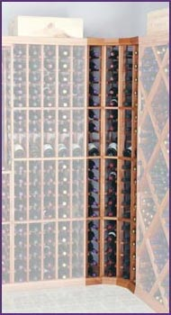Photo of Designer Series Curved Corner 72 Bottle Wine Racks