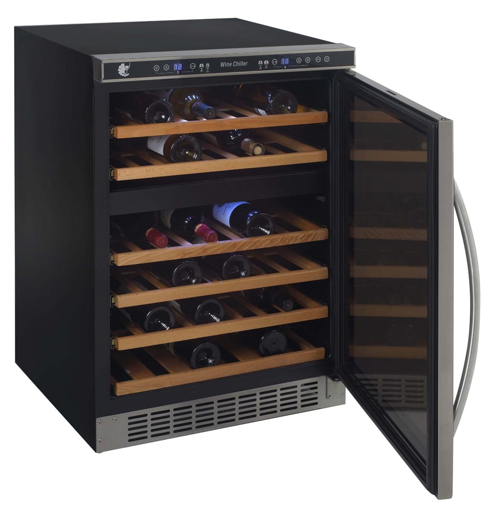 avanti wcr5404dzd wine cooler dual temperature zones - Built In Wine Fridge