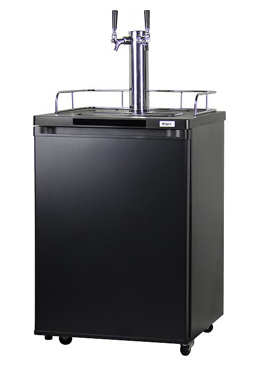 Kegco k209b 2 2 faucet full size kegerators matte black 2 tap beer k209b 2 kegerators planetlyrics Image collections