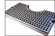 Surface Mount Stainless Steel Drip Tray with Cut-Out