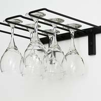 Stemware Rack - Satin Black Finish