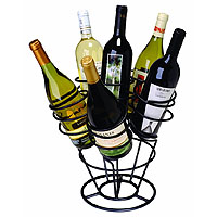 Bottle Bouquet Wine Rack - Black