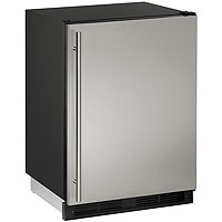 1000 Series Frost-Free Refrigerator / Freezer - Black Cabinet with Stainless Steel Door