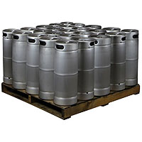 Pallet of 25 Kegs -  5 Gallon Commercial Keg with  Drop-In D System Sankey Valve