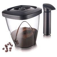 Vacuum Coffee Saver w/ Vacuum Pump - 500-gram Capacity