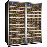 Vite Series 610 Bottle Single-Zone Wine Refrigerator - Side-by-Side with Stainless Steel Doors