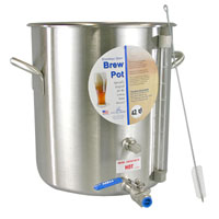 42 Qt. Stainless Steel Brew Pot with Site Gauge