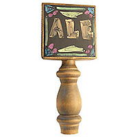 Black Dry Erase Board Beer Tap Handle