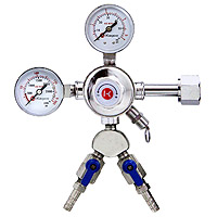 Pro Series Double Gauge Kegerator Regulator w/Two Product Out