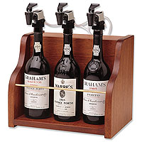 The Vintner 3 Bottle Wine Dispenser Preservation - Mahogany Cabinet