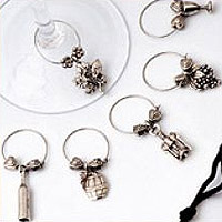 Wine Glass Charms Gourmet Collection Set of 12