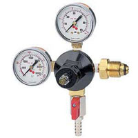Double Gauge - Nitrogen Beer Regulator - with Shut-Off Valve