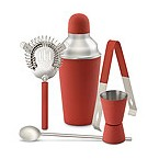 Photo of Red Happy Hour Barware Set