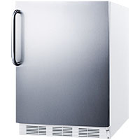 3.2 Cu. Ft. ADA Compliant Freezer - White Cabinet with Stainless Steel Door & Handle